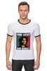 """Футболка """"Рингер"""" (Мужская) """"Bob Marley """" - любовь, регги, боб марли, reggae, ska, jamaica"""