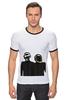 "Футболка Рингер ""Daft Punk - Electoma "" - робот, электроника, daft punk, kinoart, electroma"