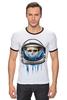 """Футболка """"Рингер"""" (Мужская) """"Dead Astronaut"""" - skull, череп, космос, astronaut, dead, cosmos, шлем, космонавт"""