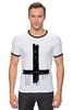 "Футболка ""Рингер"" (Мужская) ""Крест"" - крест, cross, атеизм"