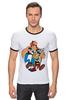 "Футболка Рингер ""Астерикс и Обеликс"" - комикс, мульт, астерикс и обеликс, галл, астерикс, обеликс"