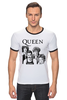 "Футболка Рингер ""Queen group"" - queen, фредди меркьюри, freddie mercury, куин, rock music"