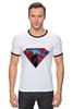 """Футболка """"Рингер"""" (Мужская) """"superman"""" - superman, супергерои"""