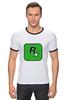 "Футболка ""Рингер"" (Мужская) ""Rockstar Games"" - gta, rockstar, гта, рокстар, rockstar games"