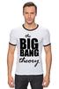 "Футболка ""Рингер"" (Мужская) ""The Big Bang Theory"" - the big bang theory, теория большого взрыва, шелдон купер, sheldon cooper"