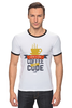 "Футболка ""Рингер"" (Мужская) ""Программист (Programmer)"" - кофе, coffee, код, программист, code"