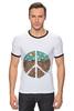 """Футболка """"Рингер"""" (Мужская) """"Pacific"""" - арт, peace, пацифизм"""