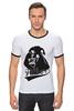 """Футболка Рингер """"Darth Vader"""" - star wars, darth vader, дарт вейдер, звёздные войны, father"""