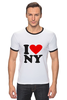"Футболка Рингер ""i love NY"" - new york"