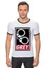 """Футболка Рингер """"50 оттенков серого (Fifty Shades of Grey)"""" - секс, бдсм, obey, наручники, 50 оттенков серого"""