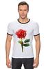 "Футболка Рингер ""С 8 марта!"" - цветы, rose, роза, акварель, tseart"