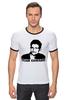 "Футболка Рингер ""Edward Snowden"" - америка, россия, цру, edward snowden, эдвард сноуден"