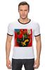 """Футболка """"Рингер"""" (Мужская) """"Basquiat"""" - граффити, робот, basquiat, баския, жан-мишель баския"""