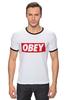 "Футболка ""Рингер"" (Мужская) ""swag swag"" - swag, obey"