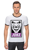 "Футболка Рингер ""Джокер (Joke)"" - joker, batman, джокер, бэтмен, obey"