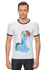 """Футболка Рингер """"my little pony"""" - pony, mlp, my little pony, пони, swag"""