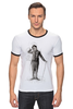 "Футболка ""Рингер"" (Мужская) ""Charlie Chaplin"" - комик, charlie chaplin, чарли чаплин, актёр, чарльз спенсер чаплин"