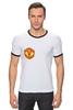 "Футболка ""Рингер"" (Мужская) ""Фуболка для фанатов ""Манчестер Юнайтед"""" - футбол, спорт, эмблема, манчестер юнайтед"