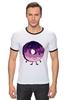 """Футболка """"Рингер"""" (Мужская) """"Космический Пончик (Space Donut)"""" - пончик, donut, космический пончик, space donut"""