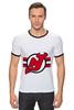 """Футболка """"Рингер"""" (Мужская) """"Нью-Джерси Девилс"""" - хоккей, nhl, нхл, нью-джерси девилс, new jersey devils"""