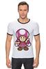 """Футболка Рингер """"Toadette (Mario)"""" - супербратья марио"""