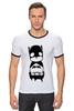 """Футболка Рингер """"Batman (Бэтмен)"""" - batman, бэтмен"""