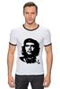"""Футболка """"Рингер"""" (Мужская) """"Viva la revolucion!"""" - че, че гевара, che, революционер, che guevara"""