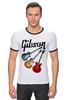 """Футболка """"Рингер"""" (Мужская) """"Gibson"""" - гитара, рок, gibson, гибсон"""