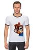 "Футболка Рингер ""Бурундук Саймон"" - герой, мульт, бурундук, элвин, элвин и бурундуки"