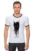 """Футболка Рингер """"бэтмен"""" - batman, бэтмен, dc, неповторимая"""