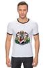 "Футболка Рингер ""Sealand White"" - белая, герб, sealand, силэнд"