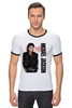"Футболка ""Рингер"" (Мужская) ""Michael Jackson"" - майкл джексон, michael jackson, майкл"