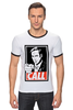 "Футболка ""Рингер"" (Мужская) ""Call Saul"" - obey, breaking bad, better call saul, лучше звоните солу, сол гудман"