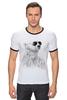 """Футболка """"Рингер"""" (Мужская) """"Белый Медведь"""" - bear, медведь, белый медведь"""