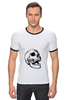 """Футболка """"Рингер"""" (Мужская) """"Белая толстовка с черепом."""" - skull"""