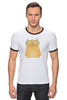 "Футболка Рингер ""Умная кошка"" - кошка, модно, котик, casual"