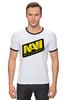 "Футболка Рингер ""Natus Vincere Logo (White)"" - игры, dota, dota 2, navi, natus vincere, дота, edward, киберспорт, dendi, markeloff"