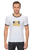"Футболка Рингер ""ride-now"" - спорт, велосипед, ride-now, активность"