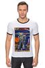 """Футболка """"Рингер"""" (Мужская) """"Bad Robot"""" - red, винтаж, robot, робот, иллюстрация, blue, vintage, журнал, обложка"""