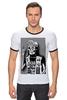 """Футболка Рингер """"Смертельный Рок"""" - skull, zombie, rock, для ценителей рока, для крутых парней и их подруг, deadly rock"""
