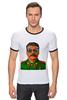 """Футболка """"Рингер"""" (Мужская) """"Сталин"""" - вождь, сталин, stalin"""