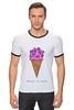 "Футболка ""Рингер"" (Мужская) ""Diamond ice cream"" - арт, мороженое, ice cream, diamond"