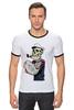 "Футболка Рингер ""sailor"" - skull, череп, моряк"