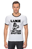 "Футболка ""Рингер"" (Мужская) ""Luke i am your spotter"" - качок, darth vader, звездные войны, дарт вейдер, spotter"