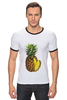 "Футболка ""Рингер"" (Мужская) ""ананас"" - ананас, фрукт, pineapple"
