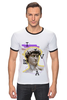 "Футболка Рингер ""ASS David"" - арт, дизайн, давид, david, michelangelo"