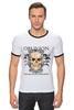 """Футболка Рингер """"Oblivion"""" - череп, ангел, дизайн, oblivion, забвение"""