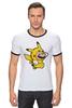 "Футболка Рингер ""Mario x Pokemon"" - пародия, покемон, пикачу, марио, picachu"