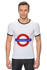 "Футболка ""Рингер"" (Мужская) ""Underground"" - арт, стиль, рисунок, london, метро, uk, metro, метрополитен, подземка"