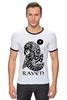 "Футболка Рингер ""Raven Brand"" - ворон, raven, raven brand, бренд ворон, voron"